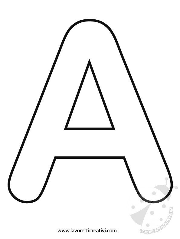 Lettere Dellalfabeto A B C D E F Lavoretti Creativi