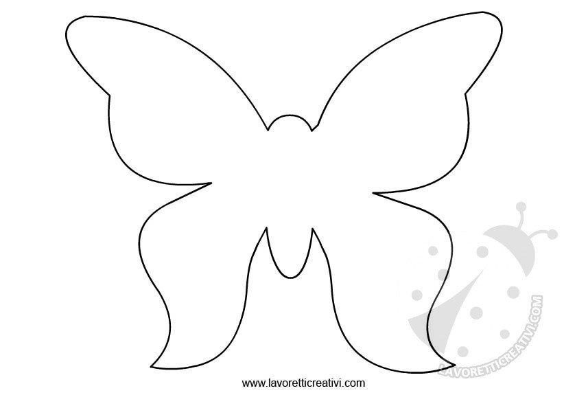 Farfalle sagome da ritagliare lavoretti creativi for Immagini farfalle da ritagliare