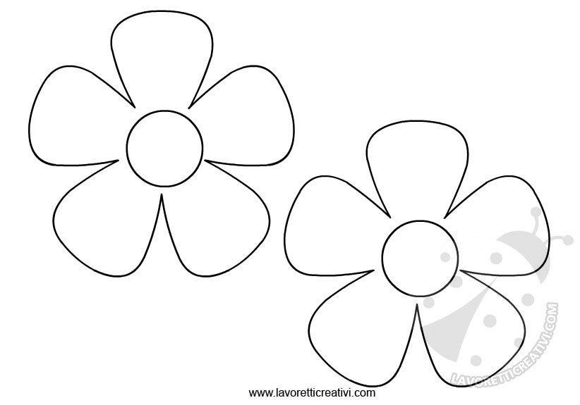 spesso Sagome fiori da ritagliare - Lavoretti Creativi NF44