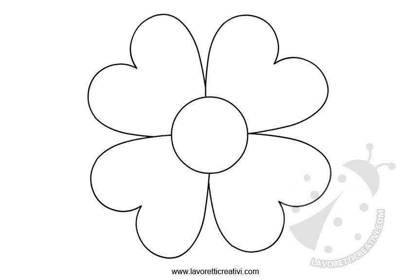 Sagome fiori da ritagliare lavoretti creativi for Fiori da disegnare facili