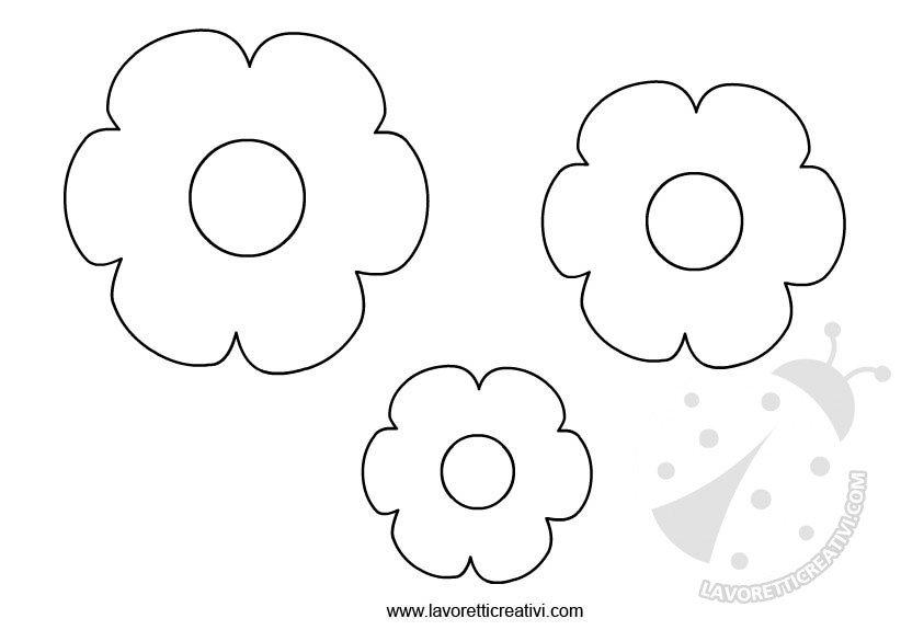 Sagome fiori da ritagliare lavoretti creativi for Primule da colorare