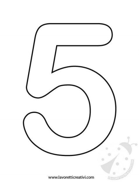 Sagome Numeri 1 2 3 4 5 Lavoretti Creativi