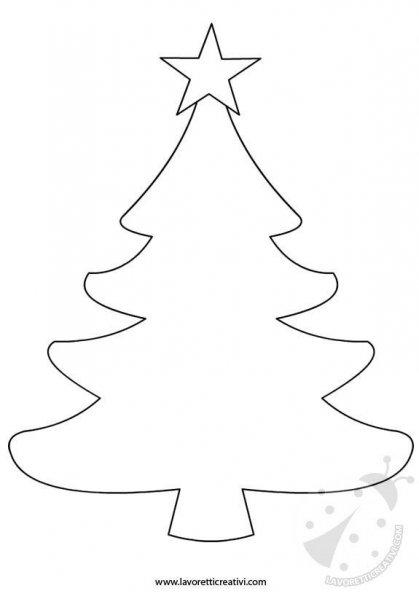 Lavoretti Creativi Albero Di Natale.Sagome Di Natale Da Ritagliare Lavoretti Creativi