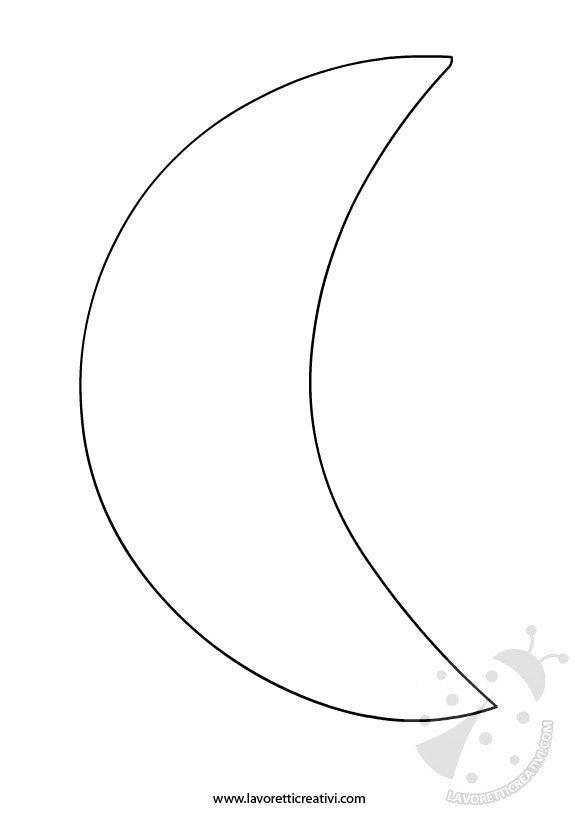 cartamodello luna