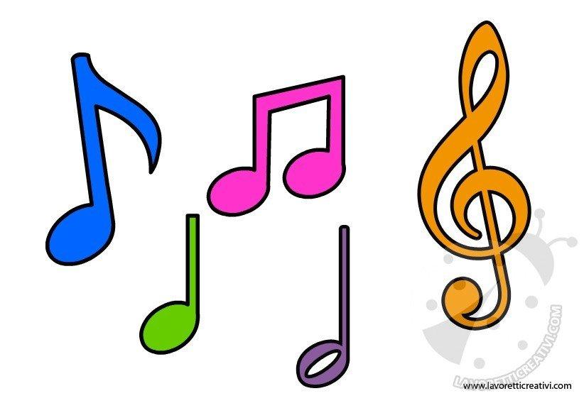 Sagome note musicali lavoretti creativi - Pagina da colorare per chitarra ...