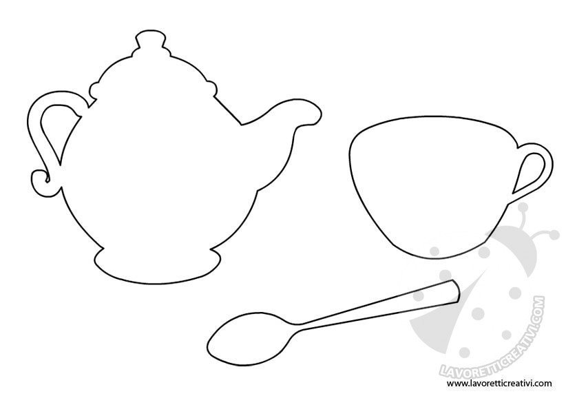 Sagome oggetti da cucina 2 lavoretti creativi for Oggetti di cucina