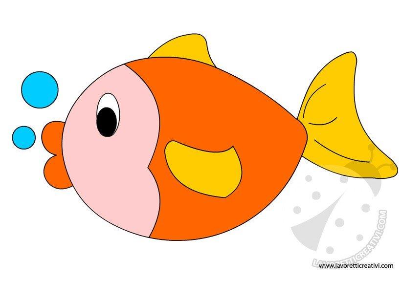 Pesce sagome da ritagliare lavoretti creativi for Pesciolini da colorare e stampare