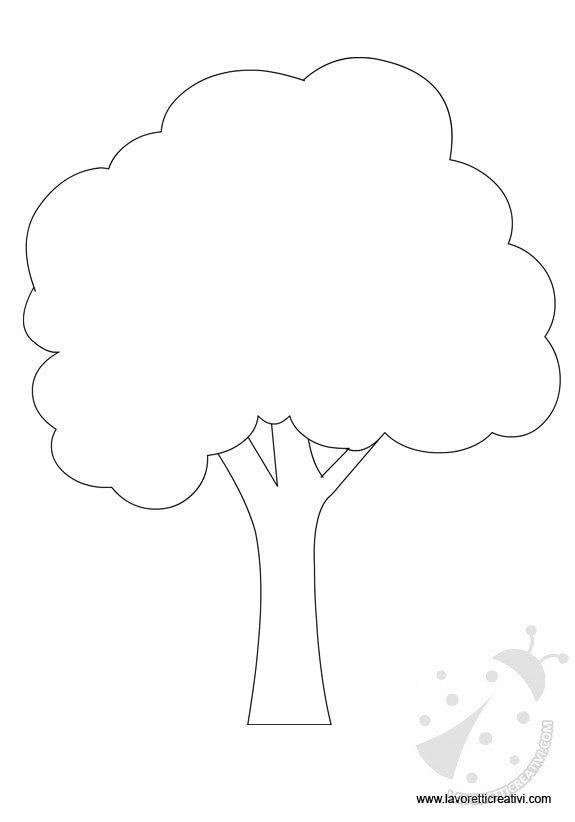 Sagome alberi per lavoretti lavoretti creativi for Foto di alberi da colorare