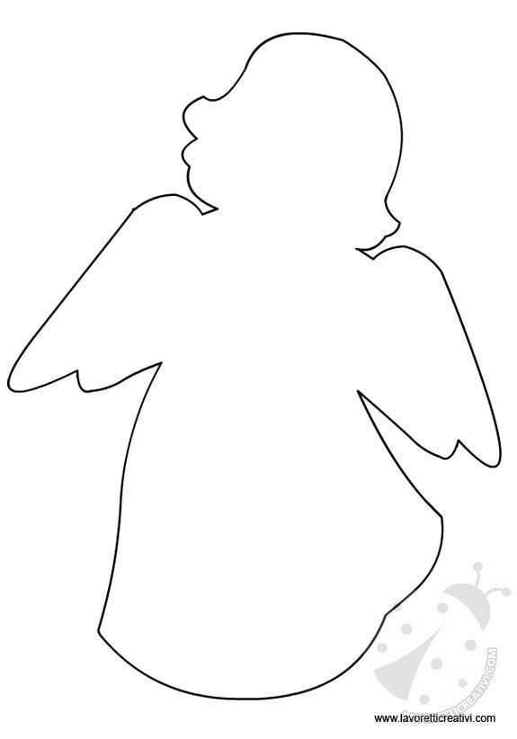 Sagome di angeli per decorazioni lavoretti creativi for Angeli per bambini da colorare