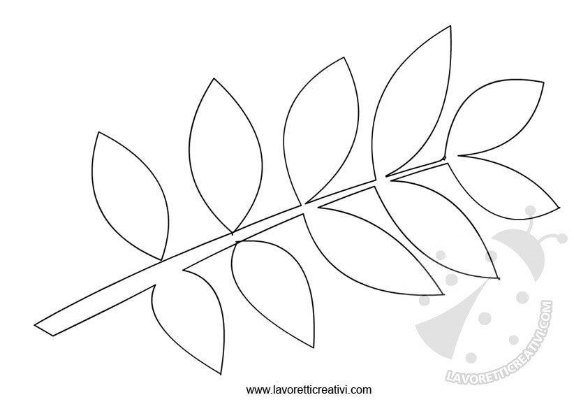 Sagome foglie da ritagliare 2 lavoretti creativi - Immagini da colorare di rose ...