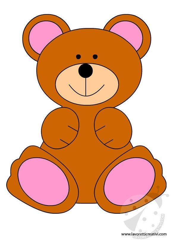Come realizzare un orsetto sagome lavoretti creativi for Disegno orso per bambini
