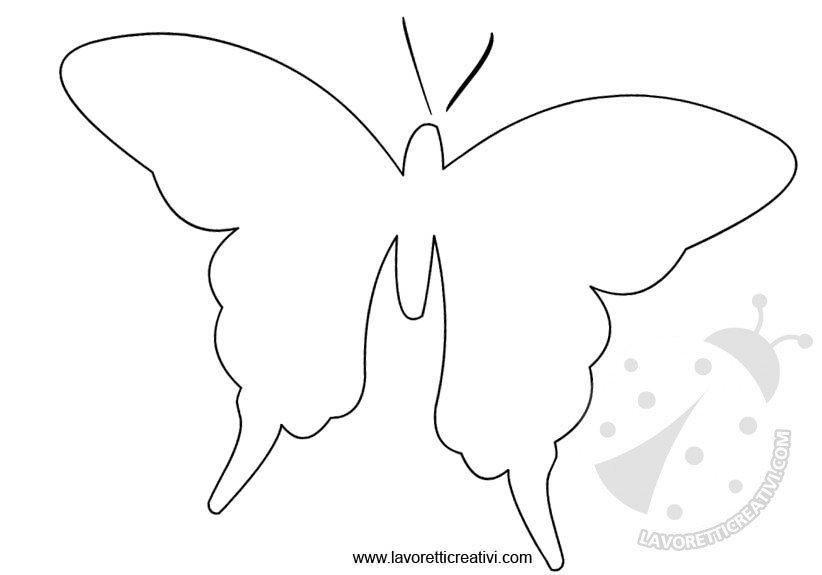cartamodello farfalla