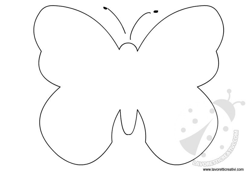 cartamodello farfalla 3