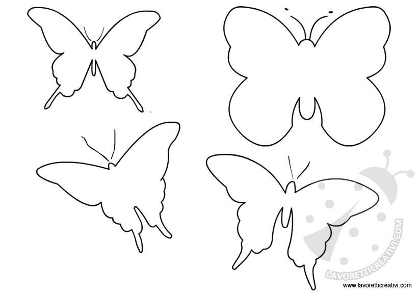 cartamodelli farfalle