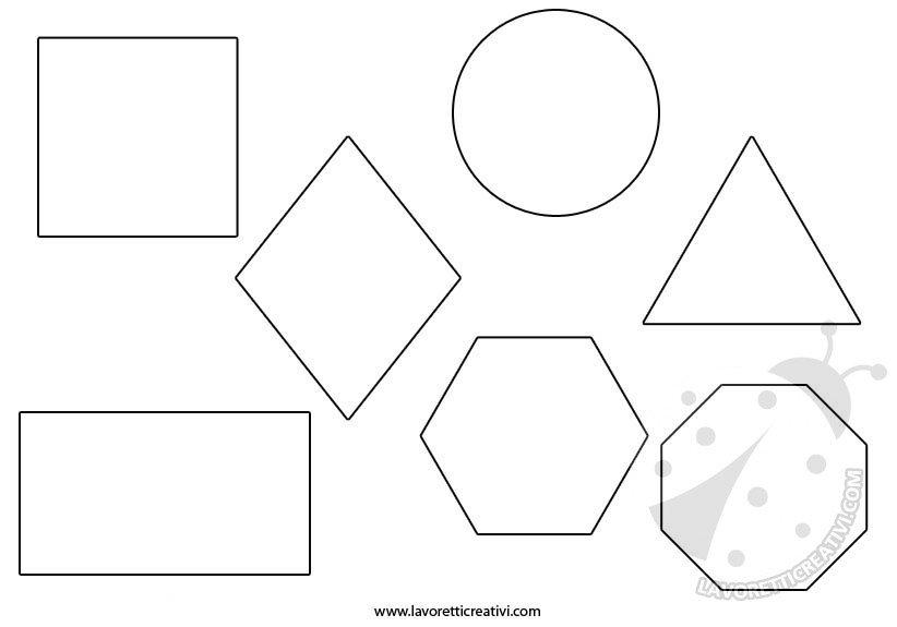 Figure geometriche da colorare e ritagliare lavoretti for Disegni da stampare colorare e ritagliare
