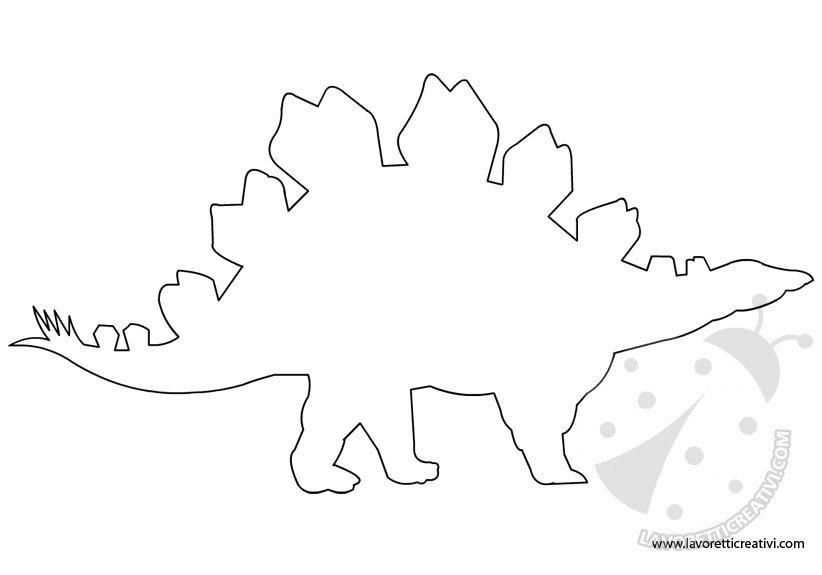 Sagome di dinosauri da ritagliare lavoretti creativi - Immagini di dinosauro da colorare in ...