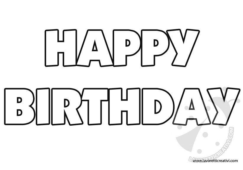 Happy birthday bubble writing