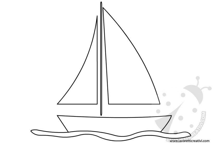Barche A Vela Sagome Lavoretti Creativi