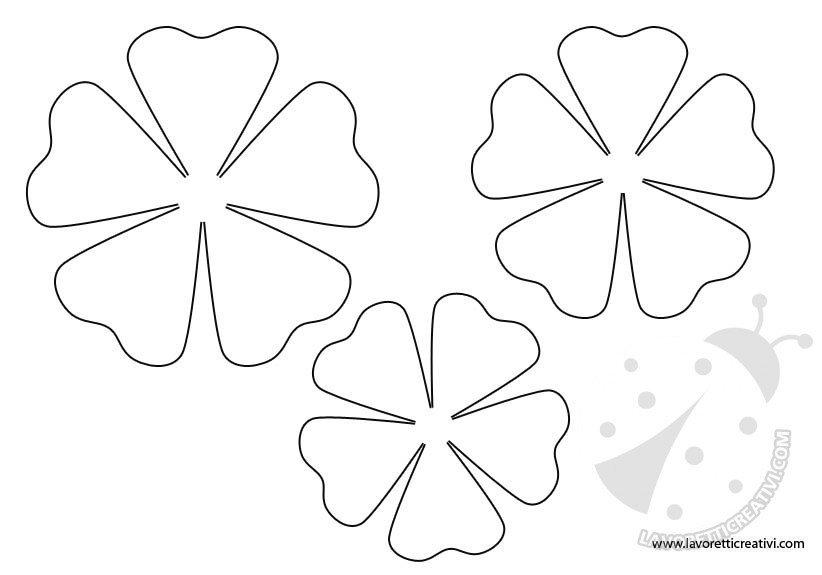 Sagome fiori da stampare lavoretti creativi for Fiori da colorare e stampare