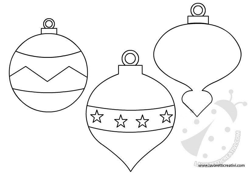 Sagome Per Lavoretti Di Natale.Palline Di Natale Sagome Per Lavoretti Lavoretti Creativi