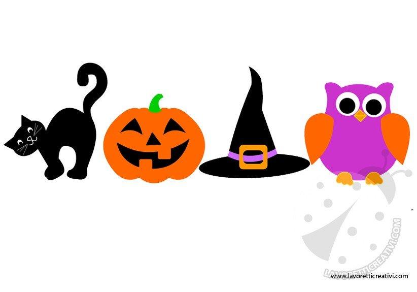 Addobbi halloween festone da stampare lavoretti creativi for Decorazioni di carta da appendere