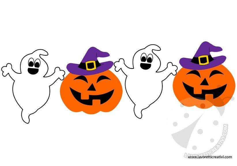 Festone di Halloween con fantasmini e zucche - Lavoretti Creativi f71e59ed3385