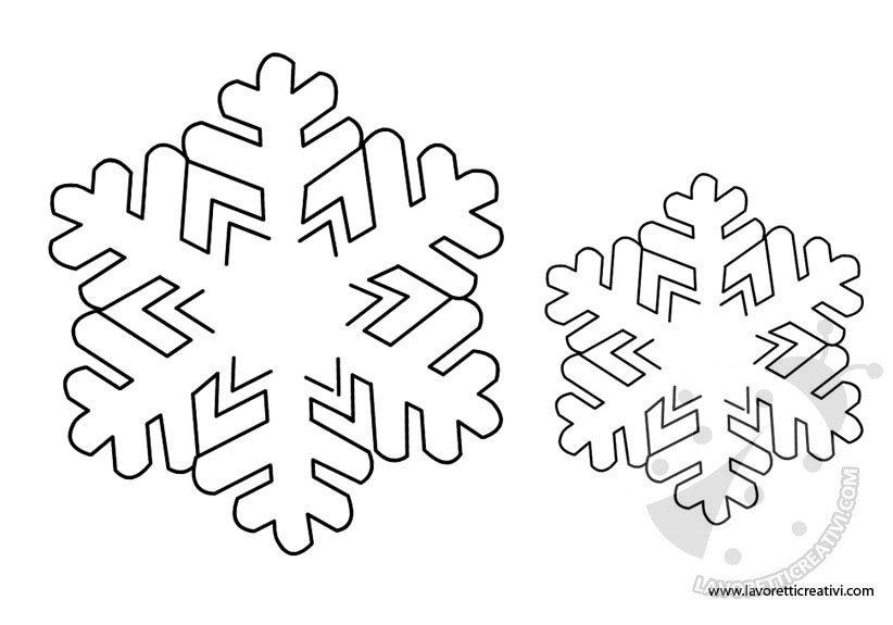 Sagome Fiocchi Di Neve Per Decorazioni Lavoretti Creativi