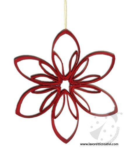 Decorazioni natale come realizzare una stella - Decorazioni natalizie con materiale riciclato ...