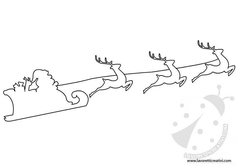 Sagome Per Lavoretti Babbo Natale In Slitta Lavoretti Creativi