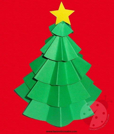 Lavoretti Di Cartoncino Per Natale.Albero Di Natale Di Carta Lavoretti Creativi