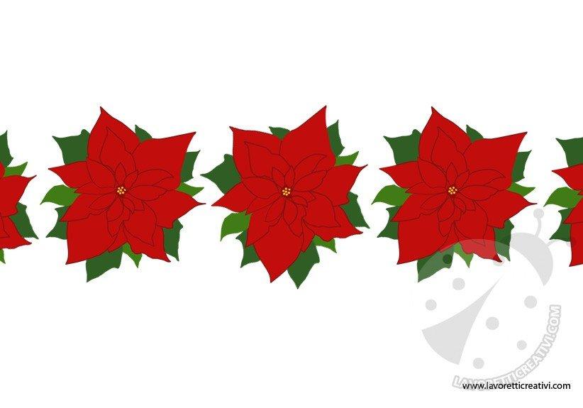 Festone con stelle di natale lavoretti creativi - Decorazioni stelle di natale ...