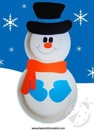 Lavoretto Inverno - Pupazzo di neve - Lavoretti Creativi 8ced84838dc7