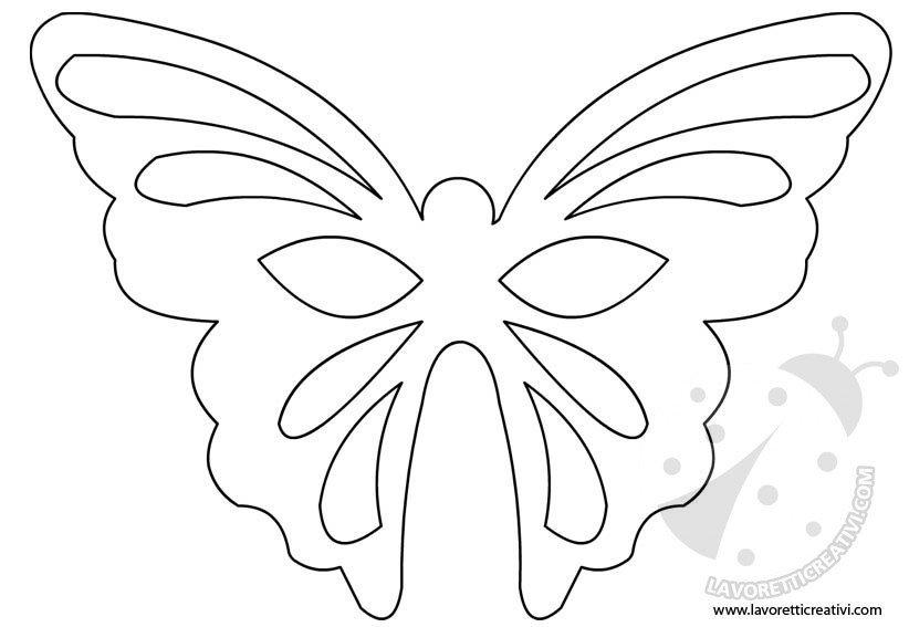 Maschera farfalla sagoma lavoretti creativi for Immagini farfalle da ritagliare