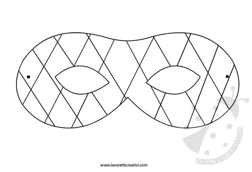 Maschera di arlecchino da ritagliare for Arlecchino disegno da stampare