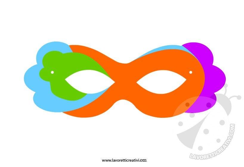 Maschere di carnevale da ritagliare 2 lavoretti creativi for Disegno pagliaccio da colorare