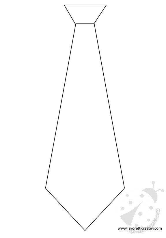 Festa del pap sagoma cravatta lavoretti creativi for Disegno pagliaccio da colorare