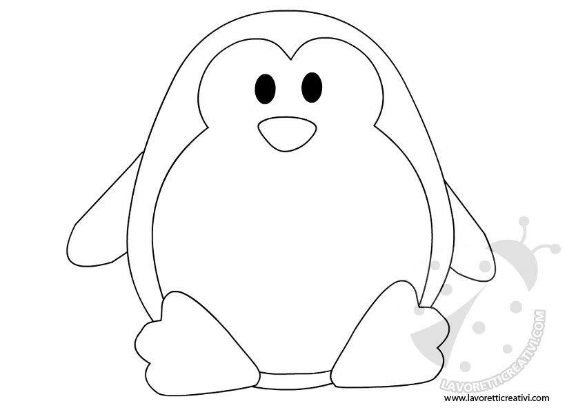 Addobbi invernali sagoma pinguino lavoretti creativi - Pinguini di natale immagini ...