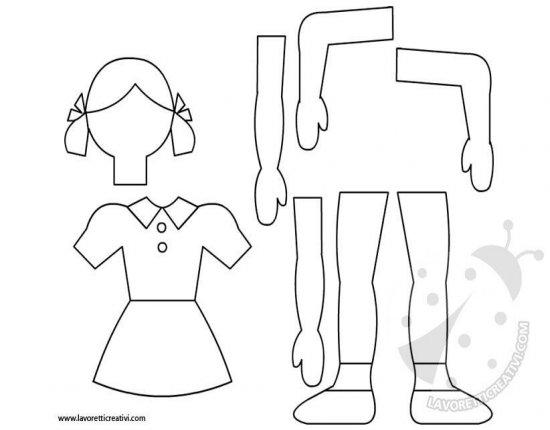 Sagome Bambina Da Ritagliare Lavoretti Creativi
