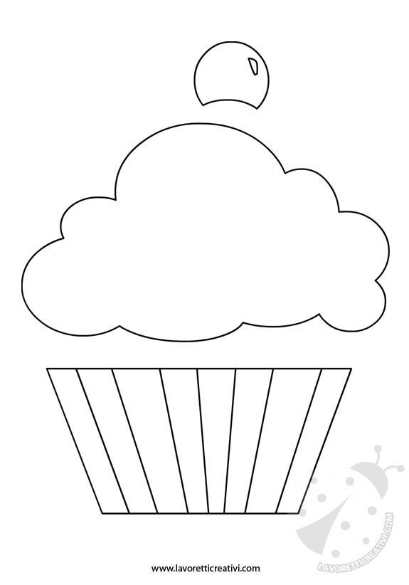 cupcake-sagoma
