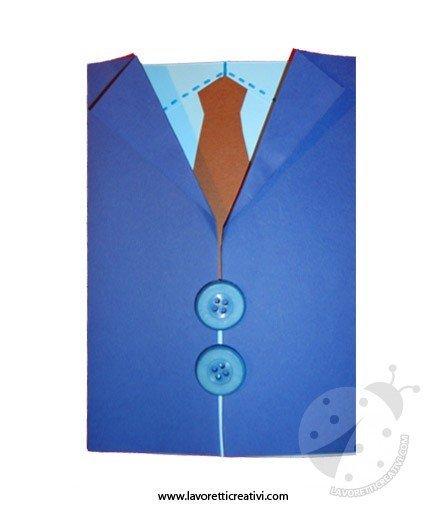 Lavoretti Festa del Papà - Biglietto giacca con camicia