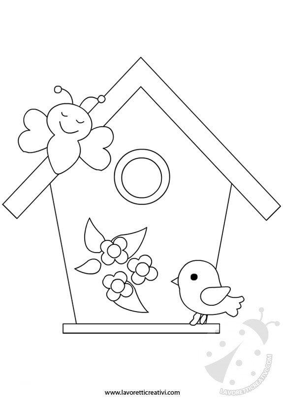 Sagome primavera casetta uccelli for Lavoretti di primavera