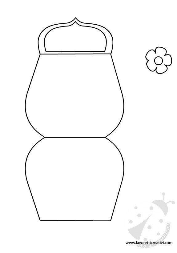 Biglietto a forma di borsetta con fiore