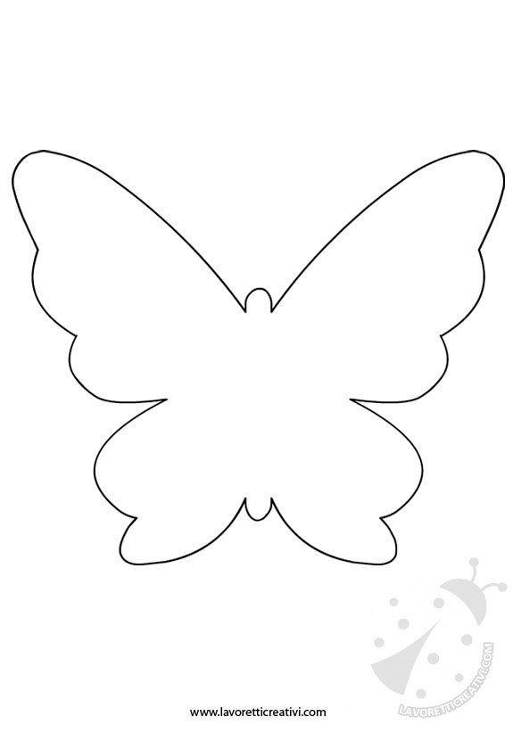Sagome Farfalle Lavoretti Creativi