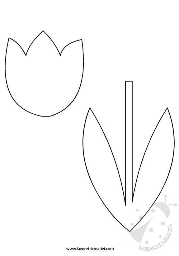 Primavera Sagoma Tulipano Lavoretti Creativi