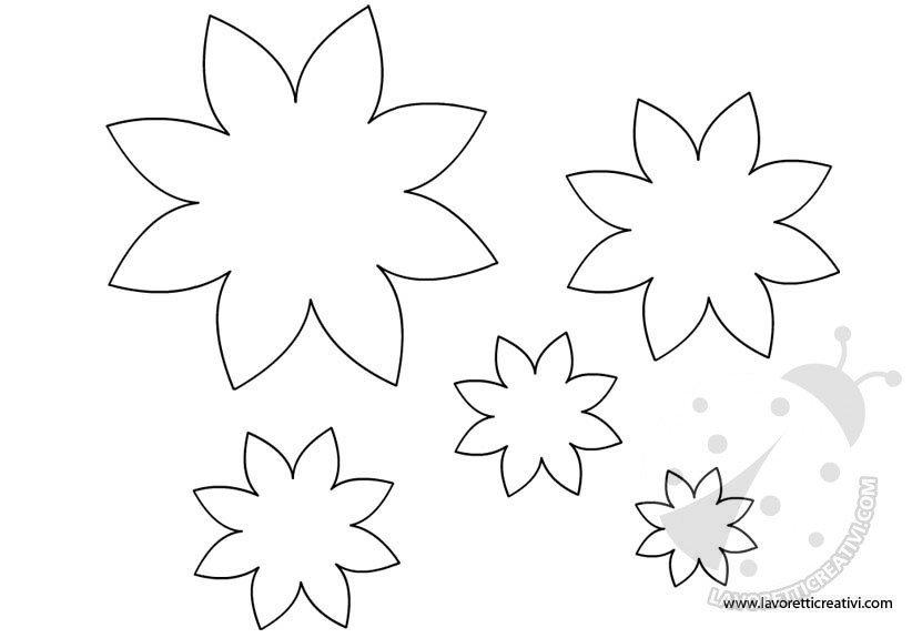 Fiori sagome per lavoretti lavoretti creativi for Disegni da stampare e colorare fiori