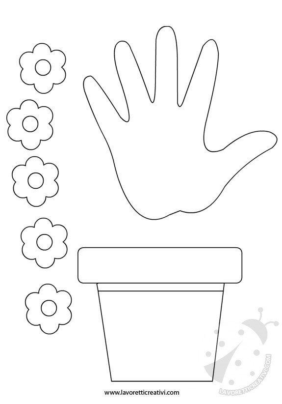 Lavoretti festa mamma vaso con fiori lavoretti creativi for Disegno vaso da colorare