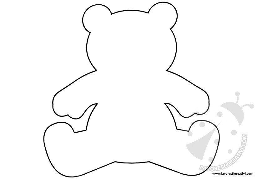 Orsetto sagoma per lavoretti lavoretti creativi for Disegno orso per bambini