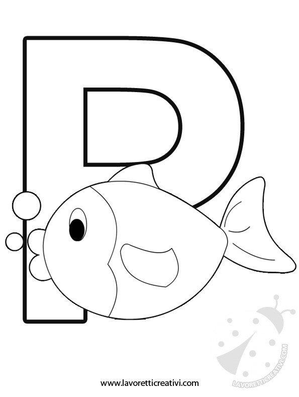 Alfabeto con disegni lettera p lavoretti creativi alfabeto lettera p thecheapjerseys Images