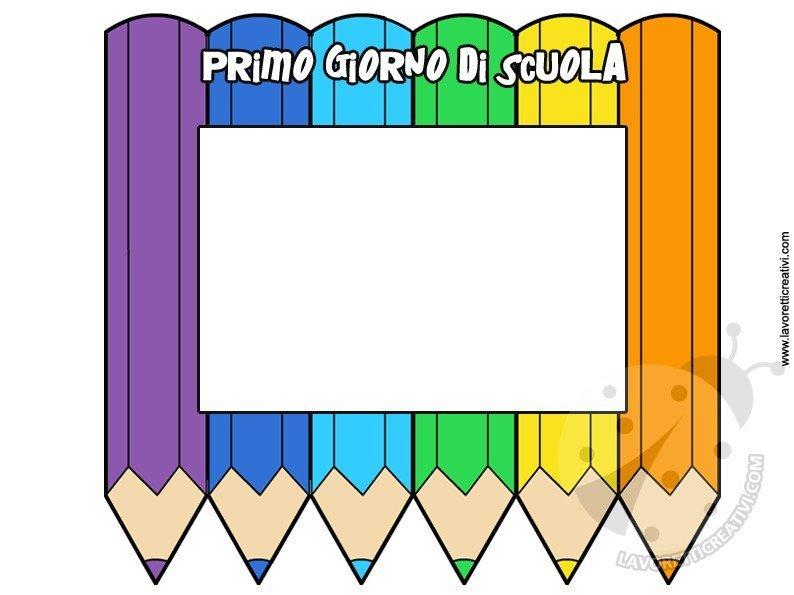 Lavoretti Per Bambini Cornici Per Foto.Accoglienza Scuola Cornice Portafoto Lavoretti Creativi