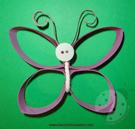 farfalla-lavoretti con rotoli di carta igienica